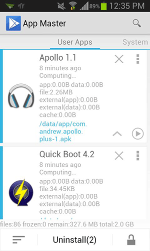 Install/Uninstall Multiple Apps at once on Android