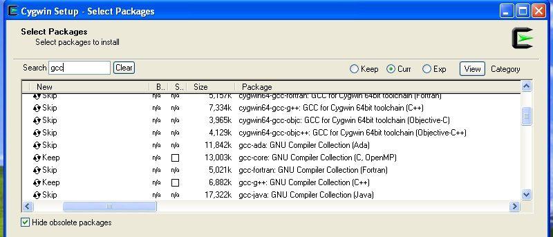 Cygwin gui development