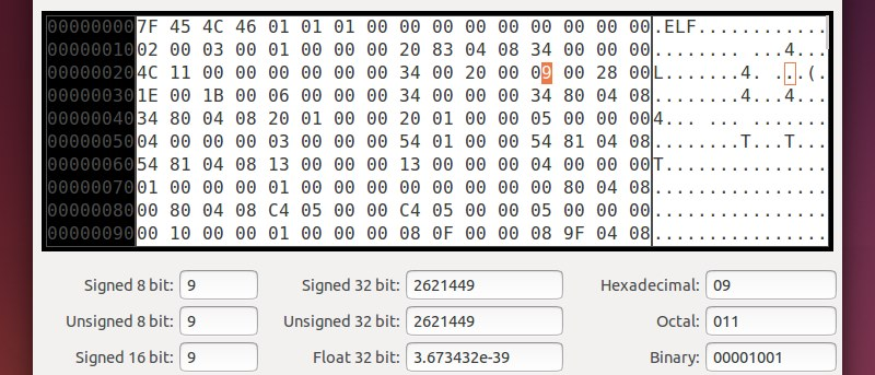 Using a Hex Editor on Linux