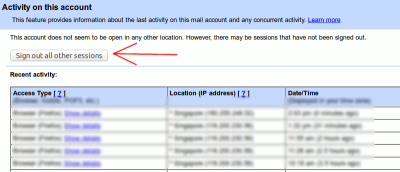 How to Log Out From Gmail, Facebook and Other Web Services Remotely
