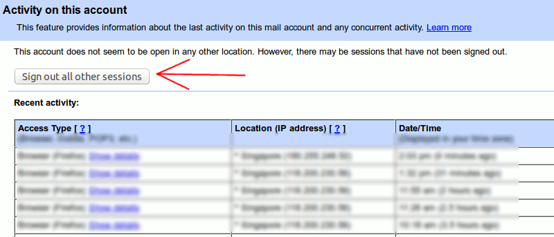How to Log Out From Gmail, Facebook and Other Web Services