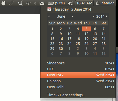 ubuntu-view-timezone-clock-applet