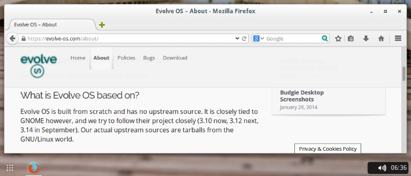 First look at Evolve OS with Budgie Desktop