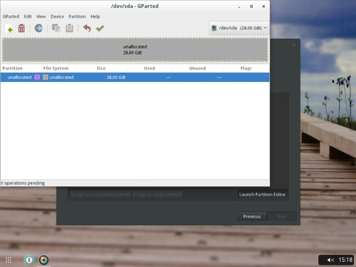 Evolve OS patition editor