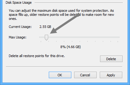 configure-system-restore-disk-space