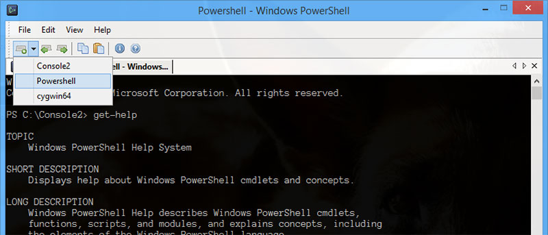 how to run a comand in console window