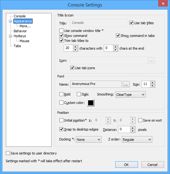 console2-appearance-settings
