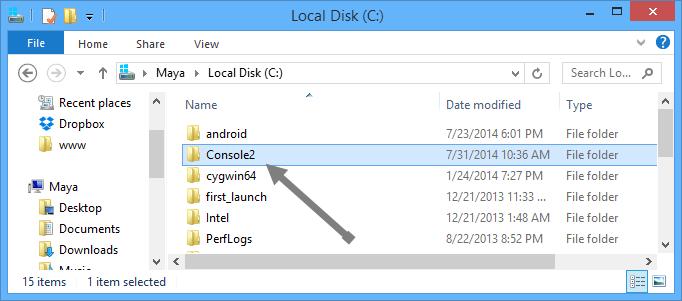 console2-installation-location
