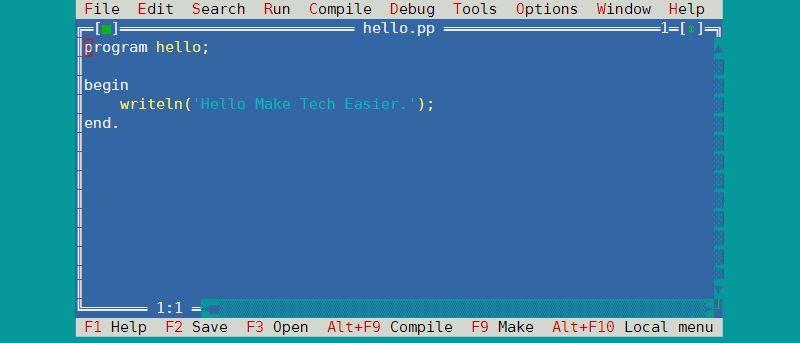 Writing Pascal Programs on a Raspberry Pi Using FPC - Make Tech Easier