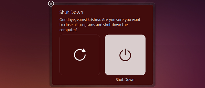 How to Turn Off Shutdown Confirmation Dialog Box in Ubuntu