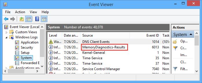 windows-memory-diagnostics-tool-event-results
