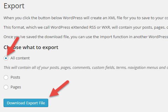 wordpress-multisite-to-single-site-export-file