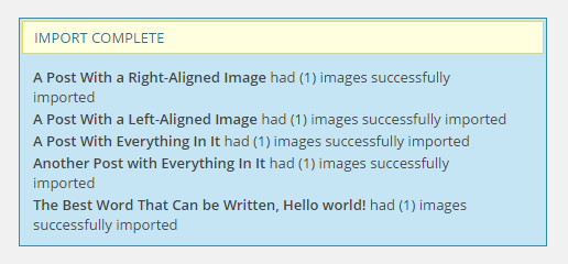 wordpress-multisite-to-single-site-import-images-complete
