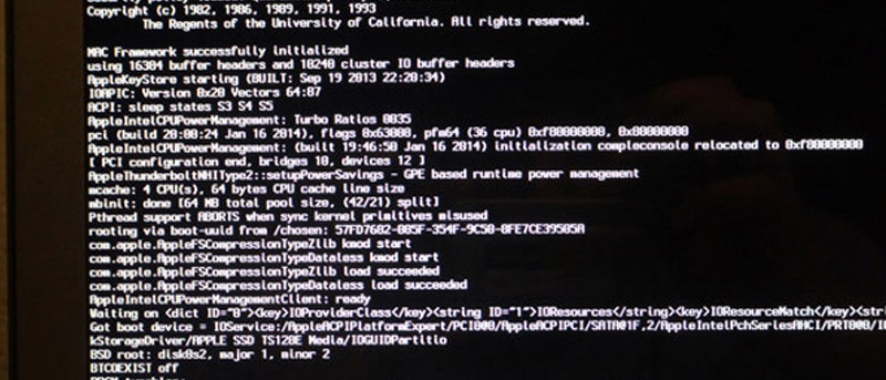 Reset OS X Account With the Terminal In Single-User Mode