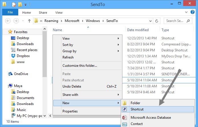add-onedrive-to-sendto-select-shortcut