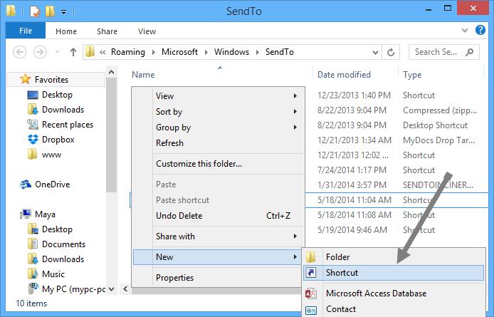 add-onedrive-to-sendto-select-shortcut