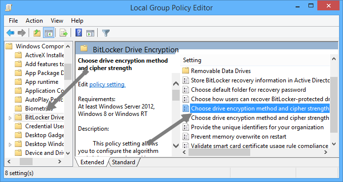 change-bitlocker-encryption-method-bitlocker-policies