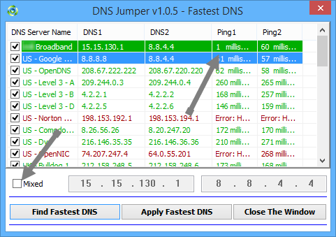 how to change dns propriation