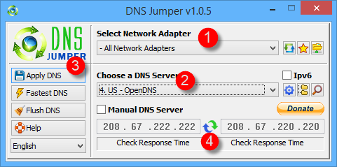 change-dns-select-dns-from-list