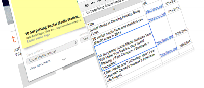 How to Save Links Into a Google Spreadsheet in Chrome