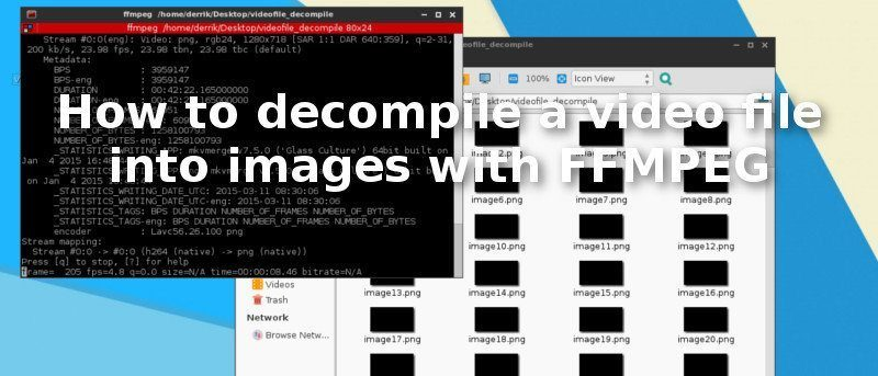 How to Decompile a Video File Into Images with FFMPEG on Linux
