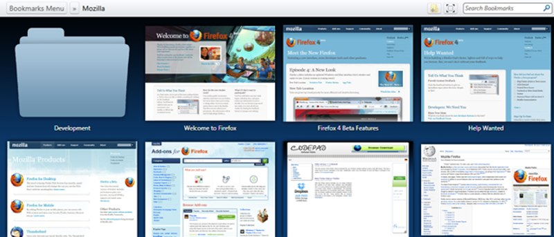 Organize Firefox Bookmarks with ViewMarks
