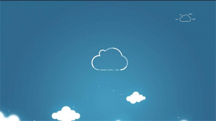Cloud Conky theme