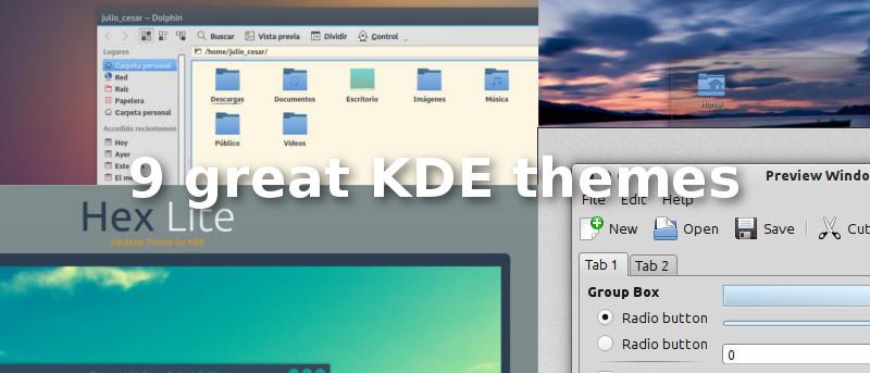 9 Great KDE Plasma Themes