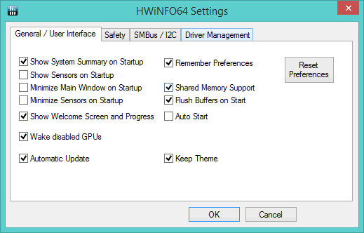 SpecID-HWiNFO-Settings