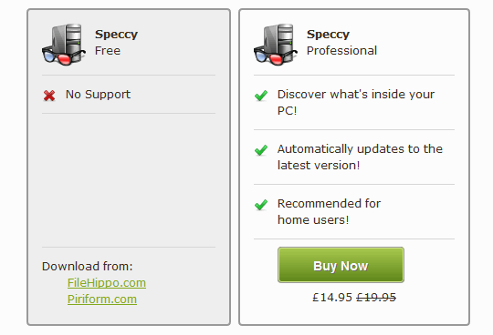 SpecID-Speccy-Versions
