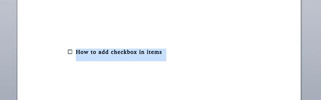 Wordcheckbox-addcheckbox