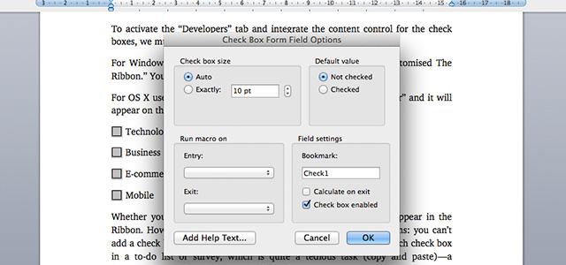 Wordcheckbox-controlcheckbox