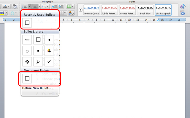 How to Add a Check Box and Custom Bullets in Microsoft Word