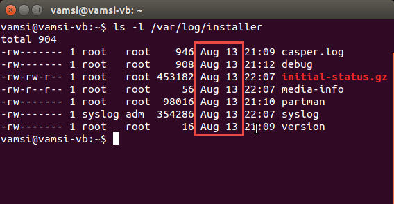 find-uptime-installation-date-linux-installation-date