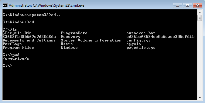 install-cygwin-integrated-into-command-prompt