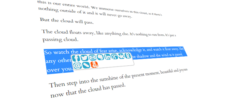 Easily Share Highlighted Text to Social Networks with Micro Sharing [Chrome]