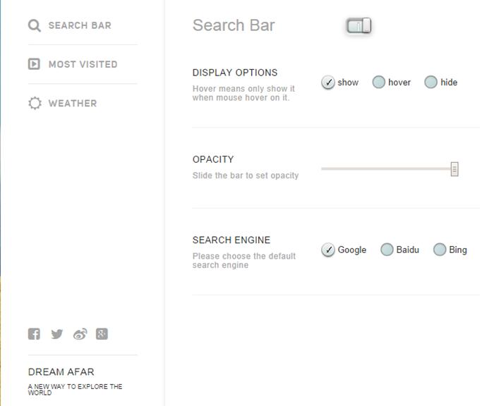 new-tab-extensions-dream-afar-settings