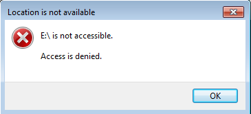 restrict-access-to-partition-access-denied