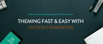 Unyson – A Free Drag and Drop WordPress Framework