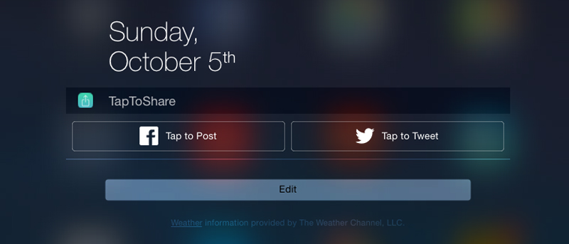 How To Add Facebook/Twitter Share Widget to iOS 8's Notification Center