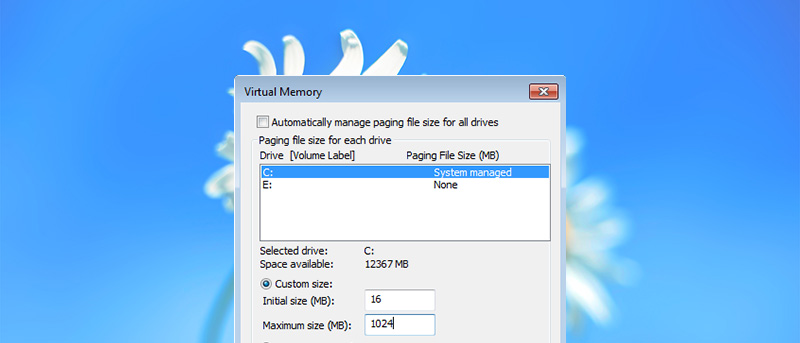 How to Change Pagefile Size and Location in Windows