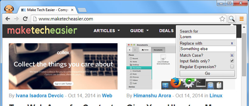 How to Find and Replace Text in Chrome and Firefox
