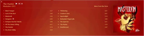 iTunes12-Mastodon-Hunter