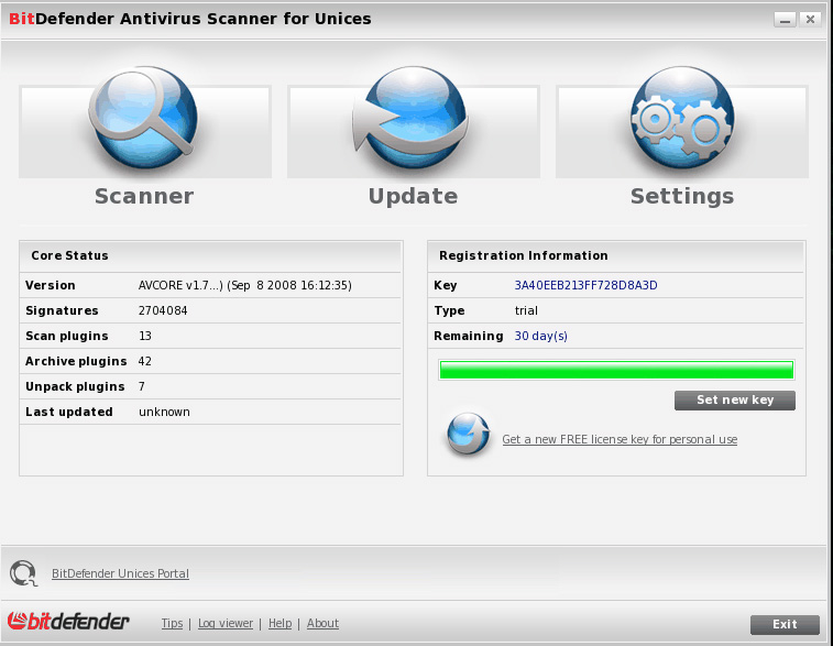 BitDefender Antivirus Scanner for Unices
