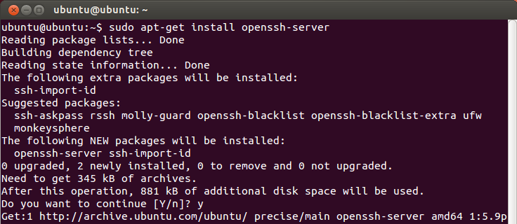 Install OpenSSH on Linux.