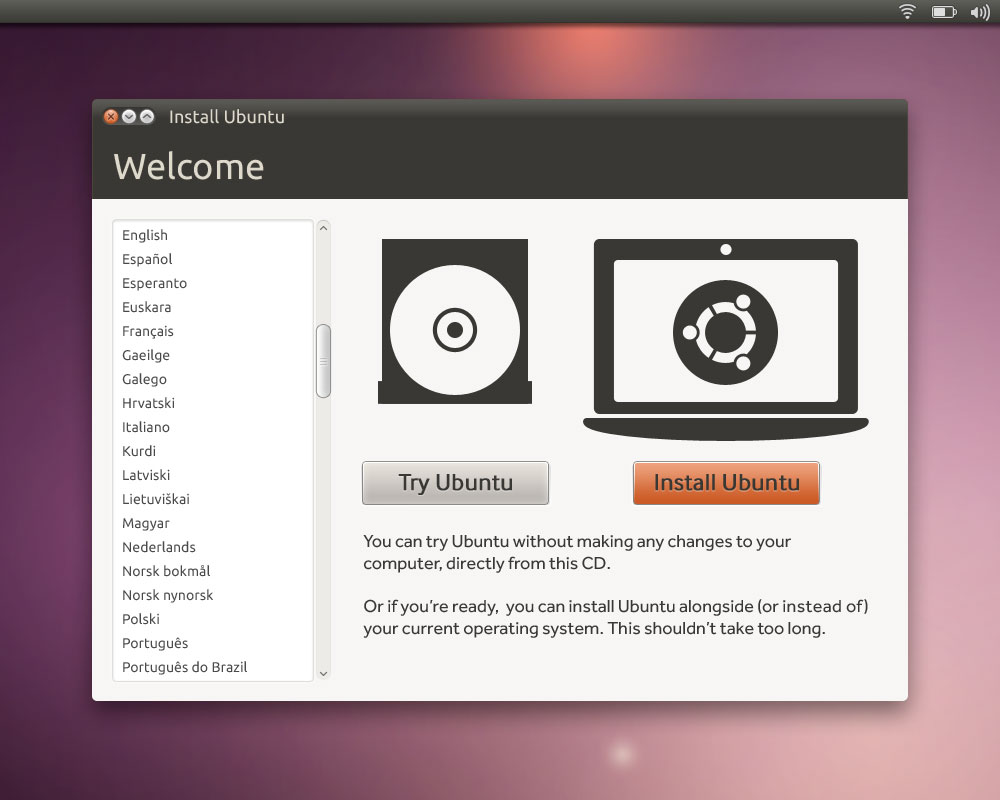 Install Ubuntu on your computer.