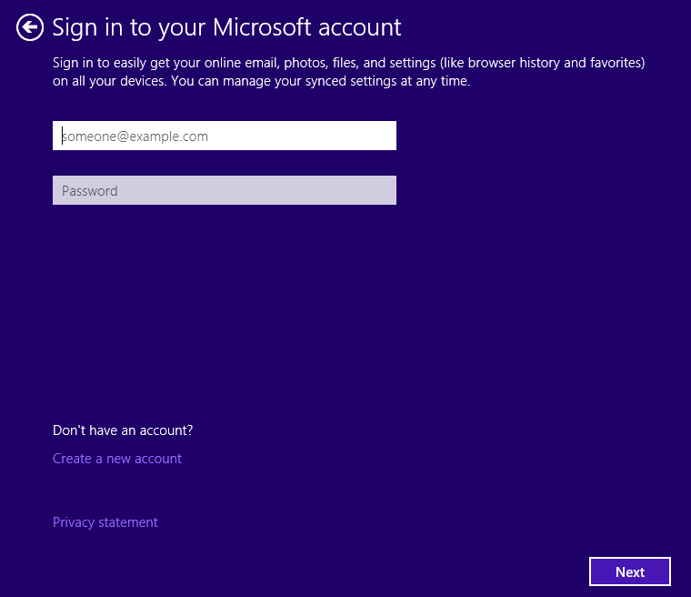 windows-10-tech-preview-microsoft-account