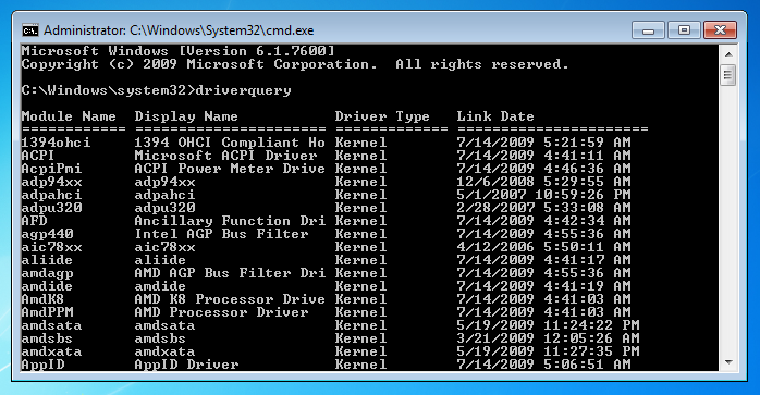 windows-command-line-tools-driverquery