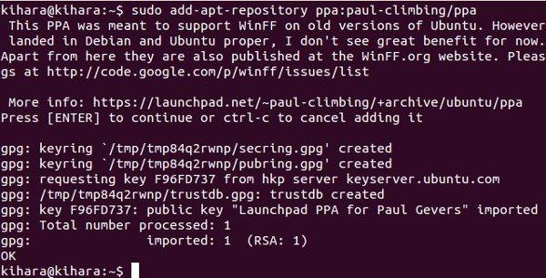 winff-ppa-repository