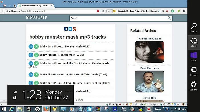 XBOX Music App Share Charm Playlist Creation